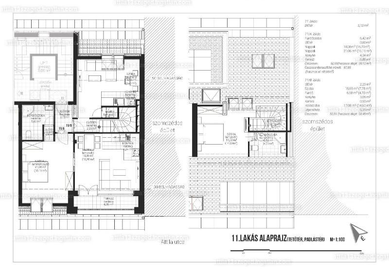 Attila13 Társasház - 4 szoba erkéllyel