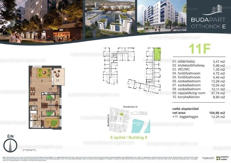 BudaPart - 4 szoba erkéllyel