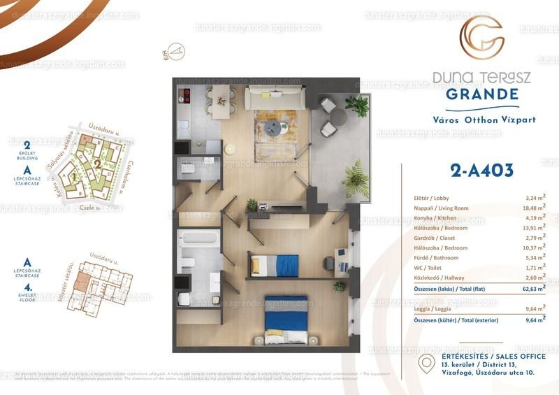Duna Terasz Grande - 3 szoba erkéllyel