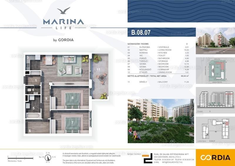 Marina Life by Cordia - 3 szoba erkéllyel