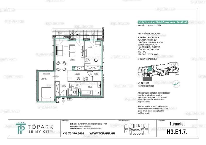 Tópark 'BE MY CITY' II.ütem - 2 + 1 szoba erkéllyel