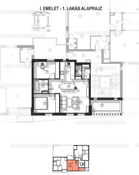 Smart Residence - 3 szoba erkéllyel
