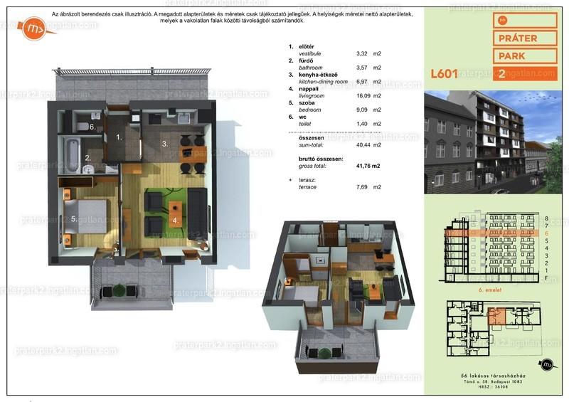 Práter Park 2. - 1 + 1 szoba erkéllyel