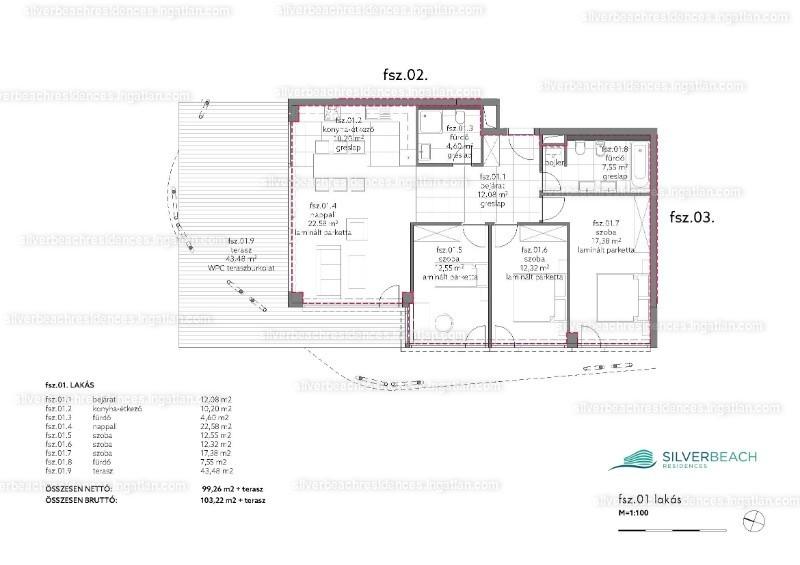 Silverbeach Residences - 4 szoba kertkapcsolattal
