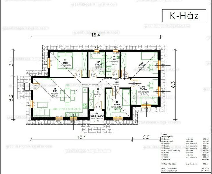 Green Lakópark - 5 szoba