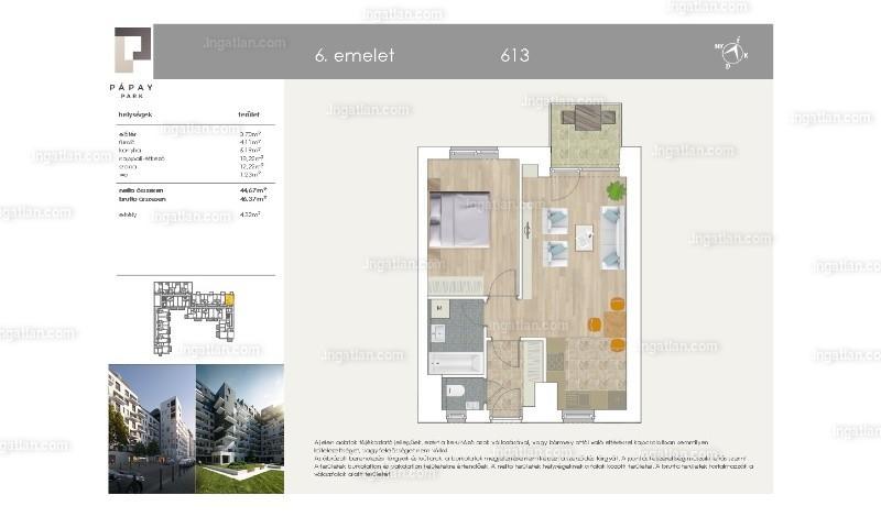 Pápay Park - 1 + 1 szoba erkéllyel