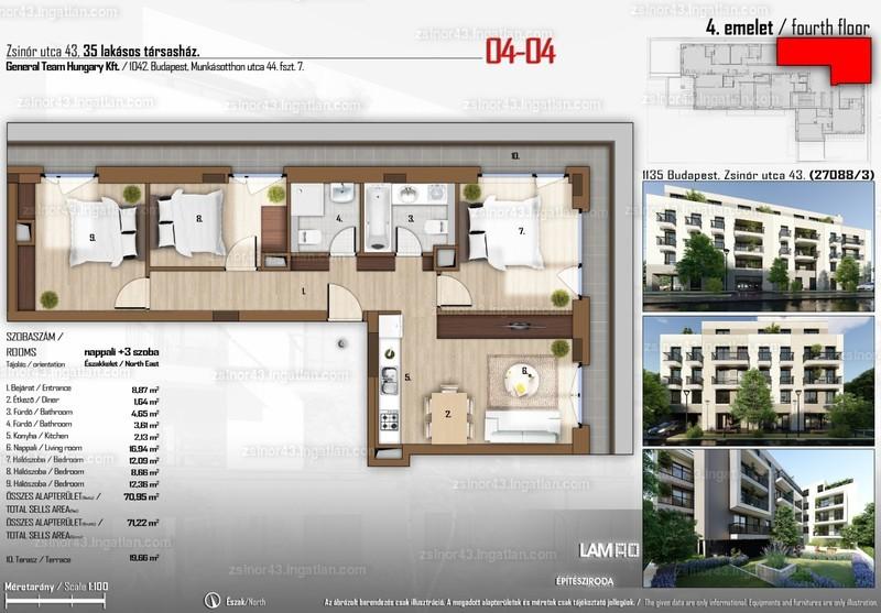 Zsinór 43 - 4 szoba erkéllyel
