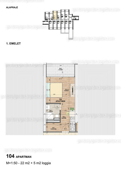 Gárdonyi Garden - 1 szoba erkéllyel