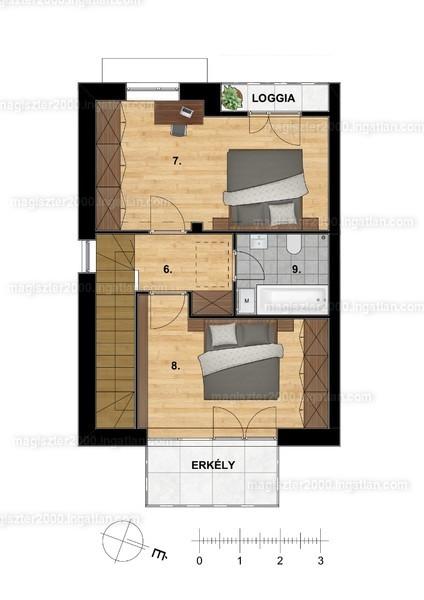 Dunaliget lakópark - 3 szoba