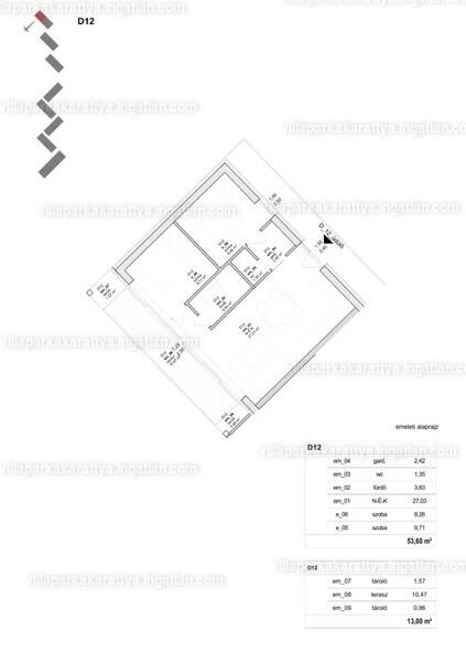 Villapark Akarattya - 2 szoba erkéllyel
