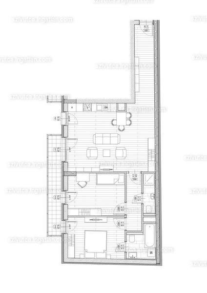 Szív utca - 3 szoba erkéllyel