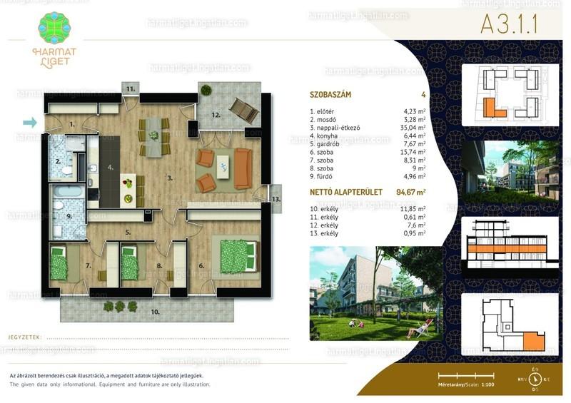 Harmat Liget lakópark I. ütem - 4 szoba erkéllyel