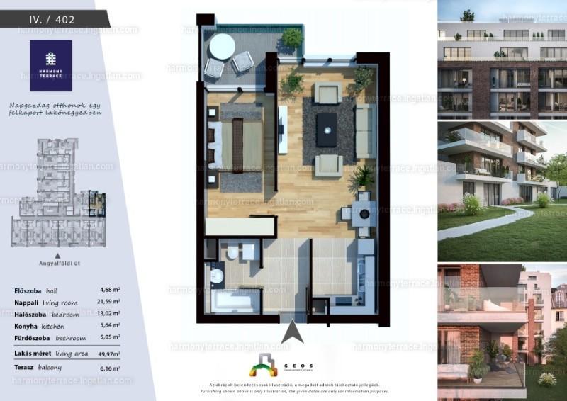 Harmony Terrace - 2 szoba erkéllyel