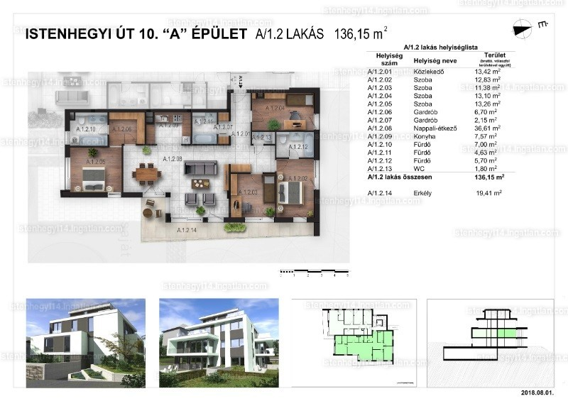 Istenhegyi 14 - 4 szoba erkéllyel