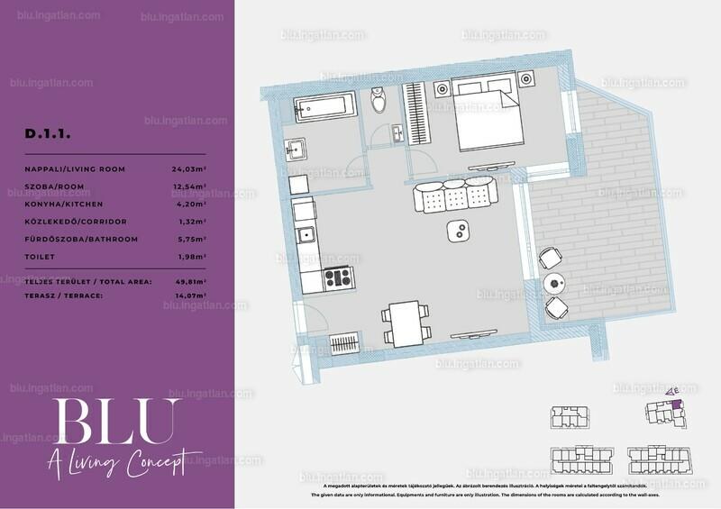 BLU - 2 szoba erkéllyel