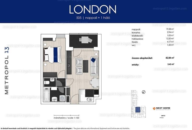 Metropol 13 - 2 szoba erkéllyel