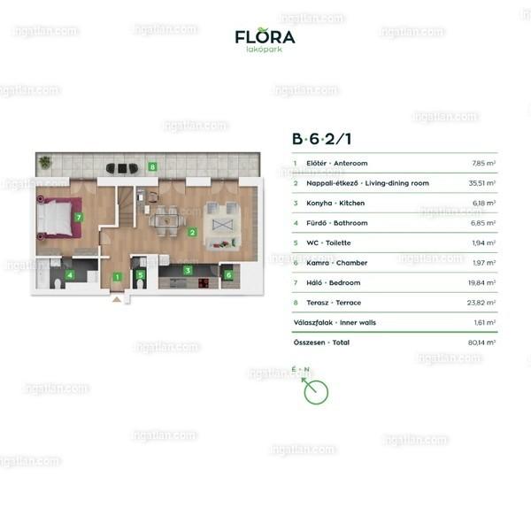 Flóra lakópark - 4 szoba erkéllyel