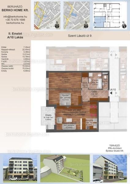 Berko Home - 3 szoba erkéllyel