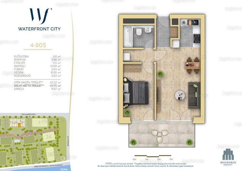 Waterfront City - 2 szoba erkéllyel