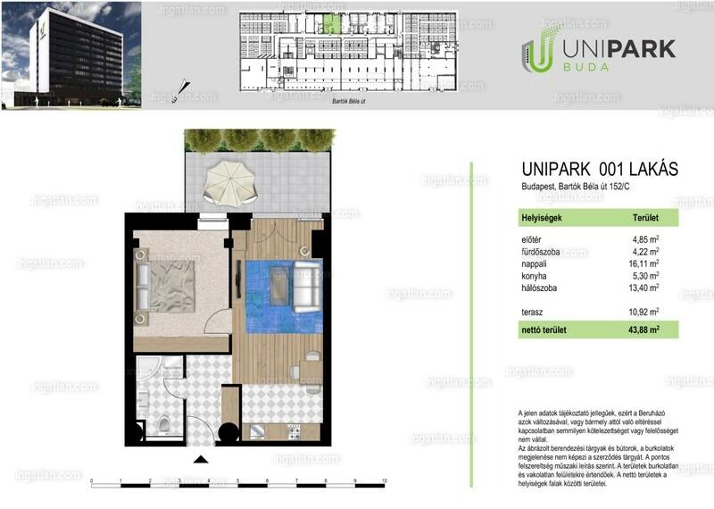 UniparkBuda - 2 szoba erkéllyel