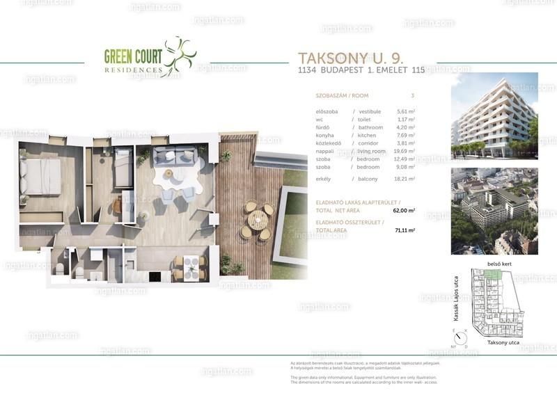 Green Court Residences - 3 szoba erkéllyel
