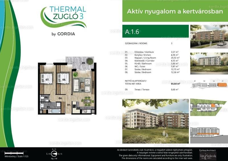 Thermal Zugló 3 by Cordia - 3 szoba erkéllyel