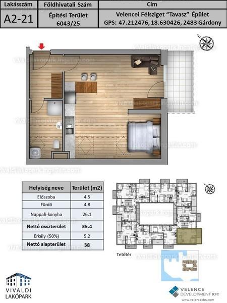 Vivaldi Lakópark - 1 + 1 szoba erkéllyel
