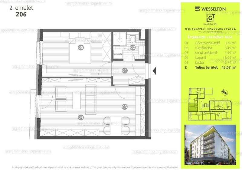 Magdolna ház - 2 szoba