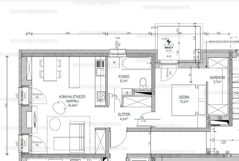 Panoráma Liget - 2 szoba erkéllyel