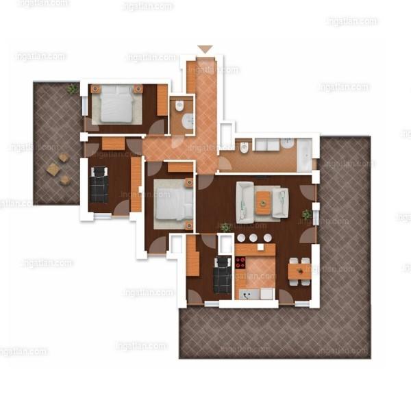 Somfa Liget VII. ütem - 1 + 4 szoba erkéllyel