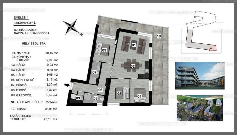 Római Ház Siófok - 4 szoba erkéllyel