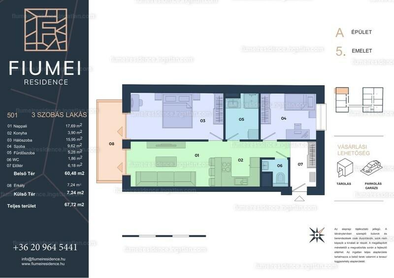 Fiumei Residence - 3 szoba erkéllyel