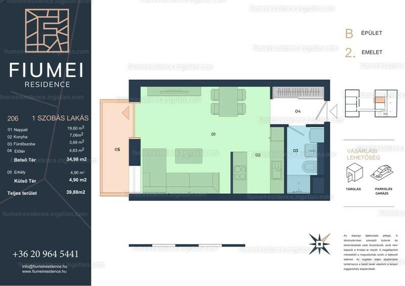 Fiumei Residence - 1 szoba erkéllyel