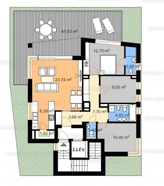 Silver Homes - 4 szoba erkéllyel