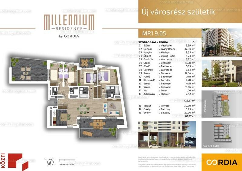 Millennium Residence by Cordia - 5 szoba erkéllyel
