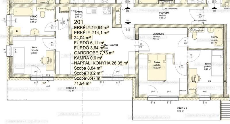 Julianus ház 2 - 4 szoba erkéllyel