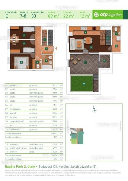 Dagály Park 2. ütem - 1 + 3 szoba erkéllyel