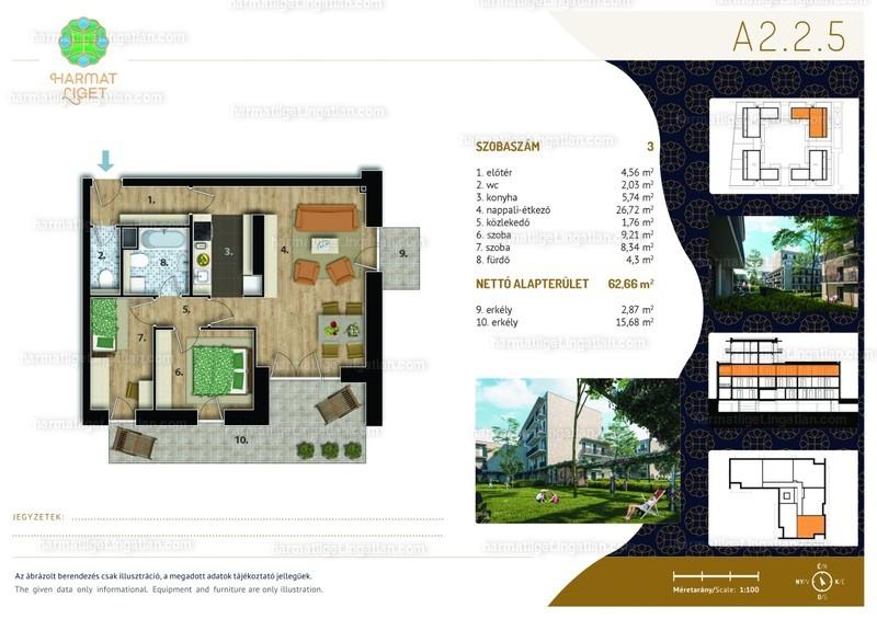 Harmat Liget lakópark I. ütem - 3 szoba erkéllyel