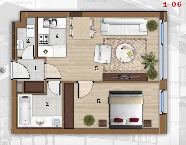 K74 - 2 szoba
