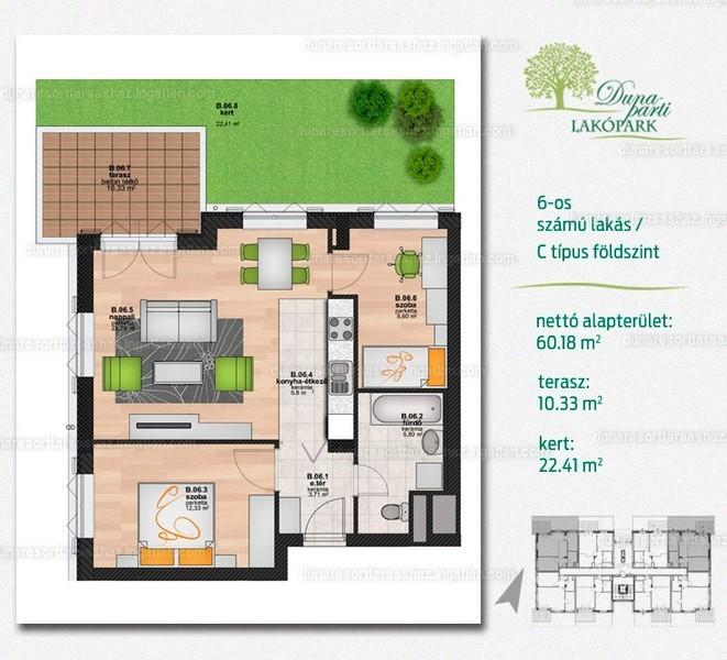 Duna Resort Társasház - 2 + 1 szoba kertkapcsolattal
