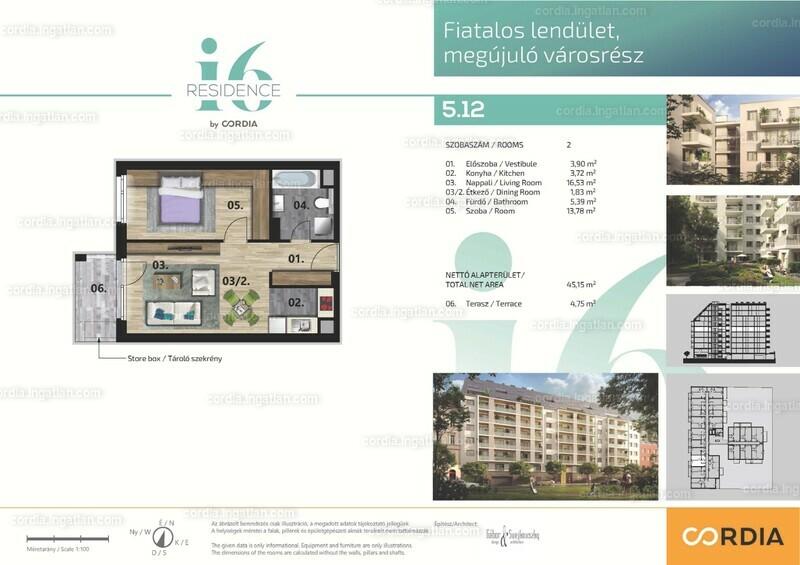 i6 Residence by Cordia - 2 szoba erkéllyel