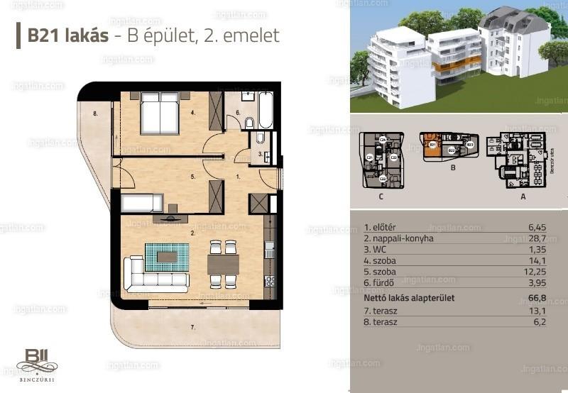 Benczur 11 - 3 szoba erkéllyel