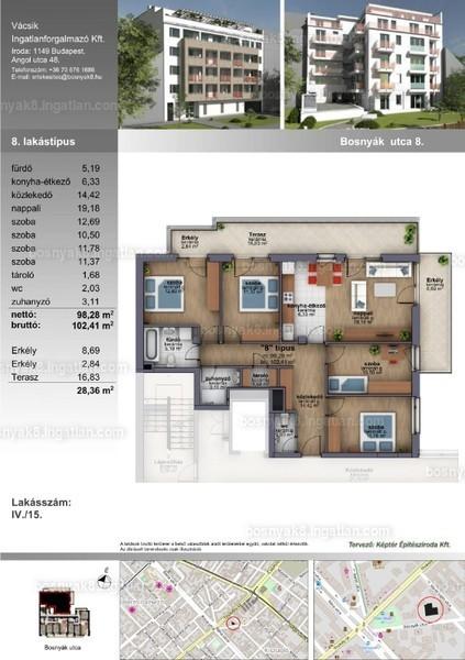B8 Zugló - 5 szoba erkéllyel