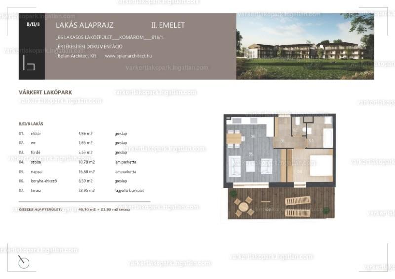 Várkert Lakópark - 2 szoba erkéllyel