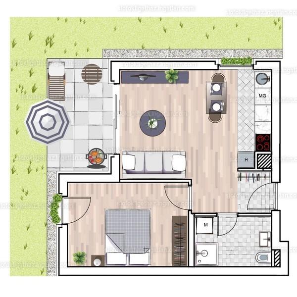 Siófok Liget Ház (Megyer) - 2 szoba kertkapcsolattal