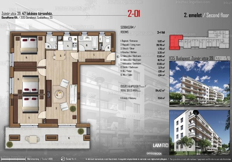Írisz ház - 4 szoba erkéllyel