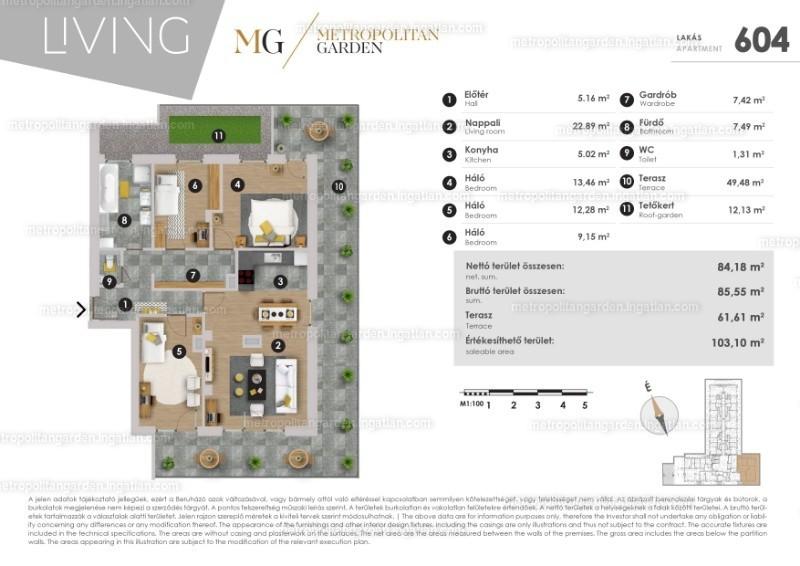 Metropolitan Garden - 3 + 1 szoba erkéllyel