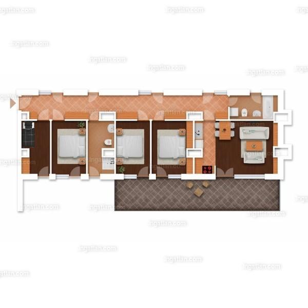 1 + 4 szoba erkéllyel