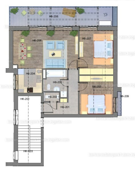 Kertvárosi Lakópark I. ütem - 3 szoba erkéllyel