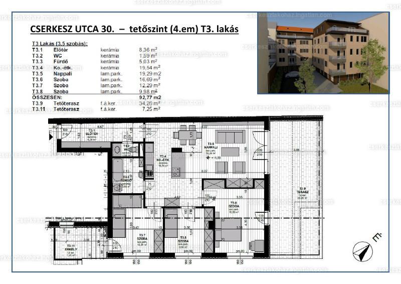 Cserkesz Lakóház - 3 + 1 szoba erkéllyel